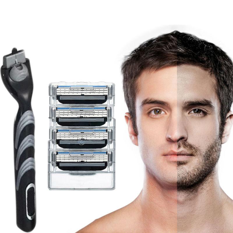 Top Quality Genuine Gil lette Mach 3 Shaving Razor Blades For Men Brand Blade To Shave With 4 Blades + 1 Razor Blades Hilt<br><br>Aliexpress