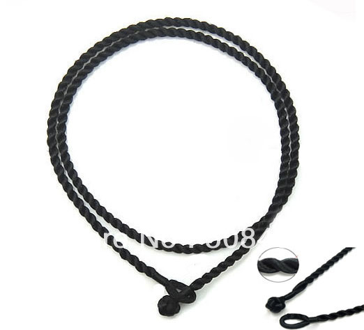 Free shipping!!! 100pcs/lot 2mm black 18 Silk Cord Twist Thread Necklace Fit European Charms beads/pendant<br><br>Aliexpress