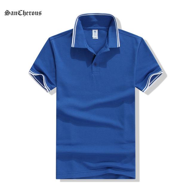 2016 новые 13 цвета мужчины Camiseta поло хлопка с коротким рукавом свободного покроя ...