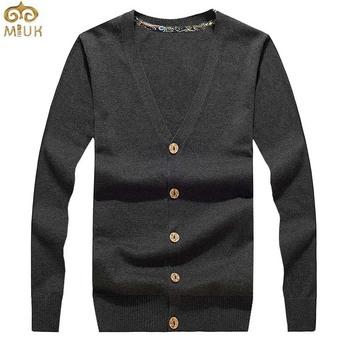 Solid V Neck Christmas Sweater Men 3XL XXL Brand Cardigan Men 3Color Gray Black Blue Cardigan 2015 New Arrival