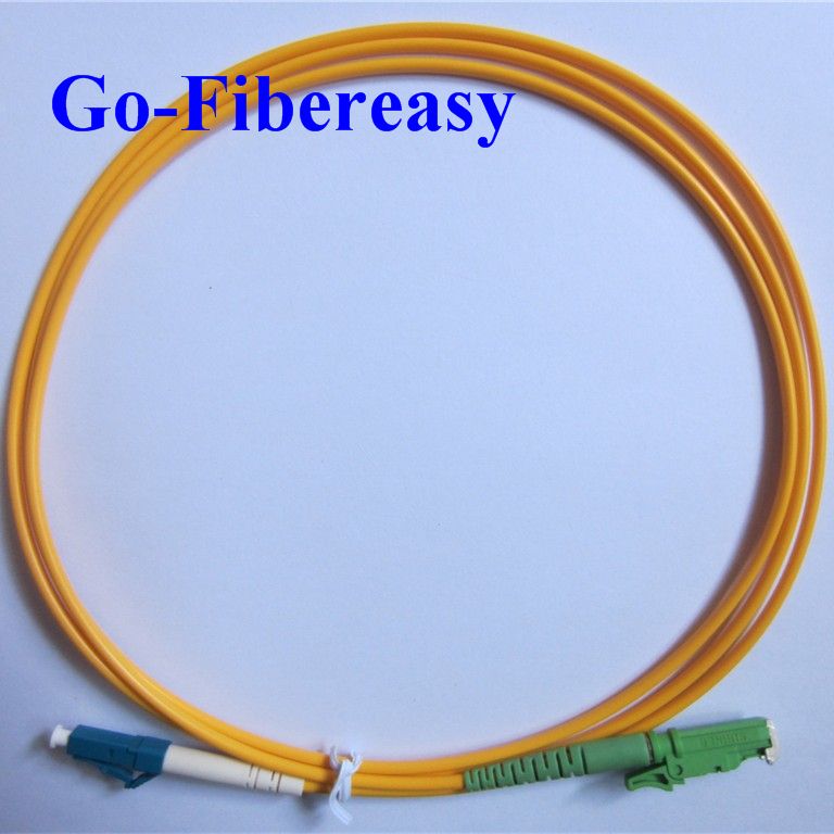 5pcs/lot Fiber Patch Cord LC/UPC-E2000/APC Single-mode Simplex Patch cable 3meters 3.0mm(China (Mainland))