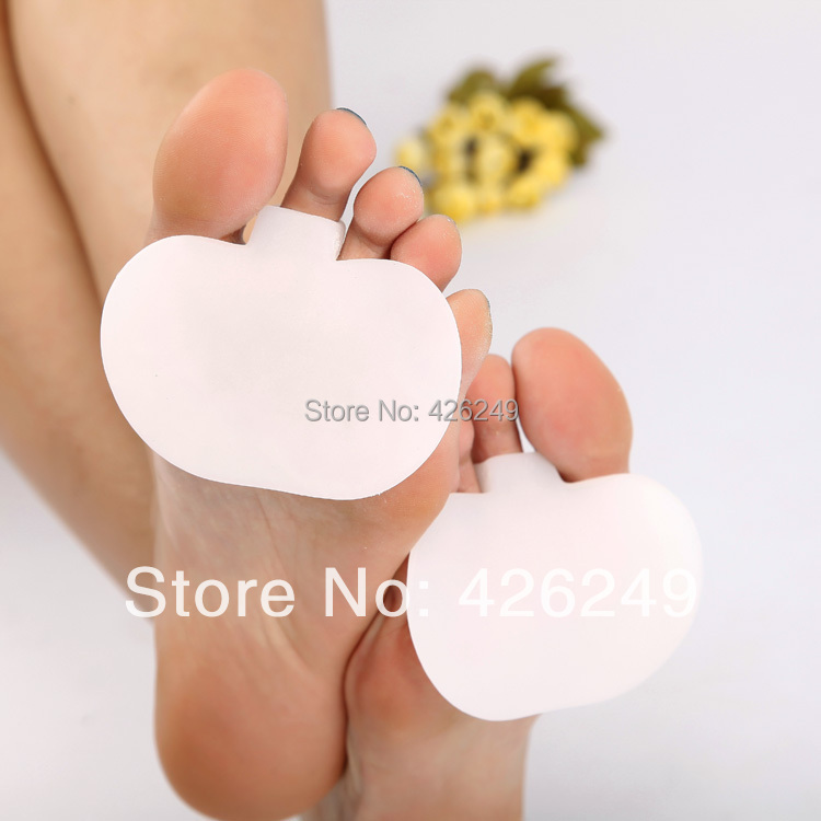 Forefoot silicone pad high heel shoes pad sole Metatarsal pad on the sole medical silicone gel cushion pad 2pieces=1pair(China (Mainland))