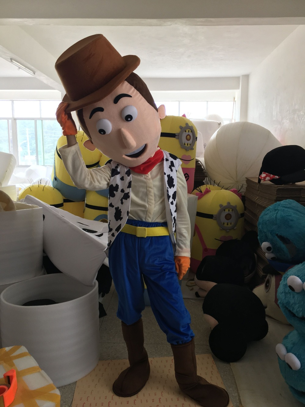 High Quality Cartoon Mascot Costume Cow Boy Mascot Costumes Woody Costume For Party()