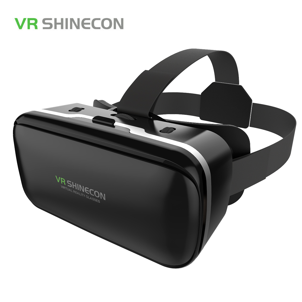 Shinecon VR Virtual Reality 3D Glasses Headset Google Cardboard Play Game Watch 3D Movie HD Lens For 4-6 inch Smartphone(China (Mainland))