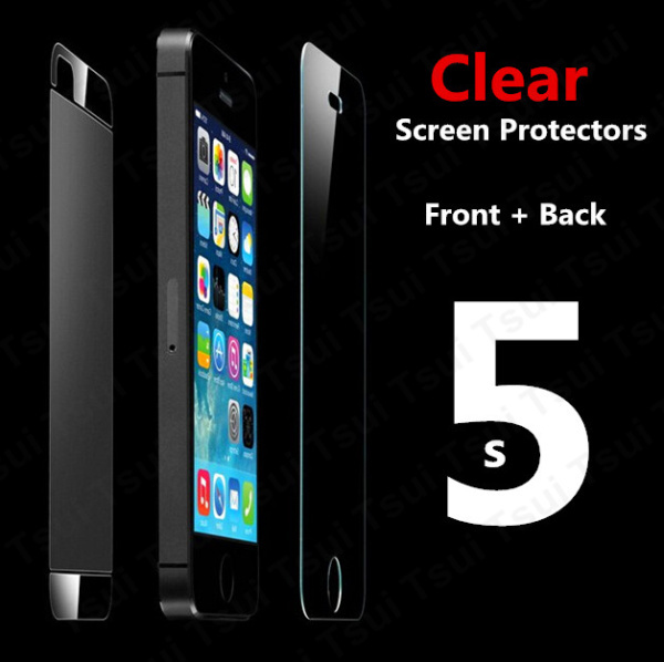 1 Front 1 Back clear screen protector for iPhone 5 5S 5C clear screen protective film