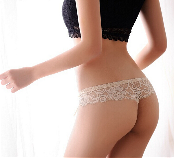 Hot Sale Sexy Lace Panties Seamless G string Underwear Women T Panty Transparent Briefs Lingerie Low Waist Intimates for Ladies(China (Mainland))