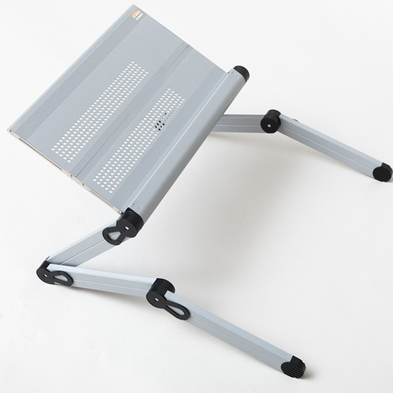 Light weight portable folding laptop stand with adjusting height plastic joint three foldable legs each side white color(China (Mainland))