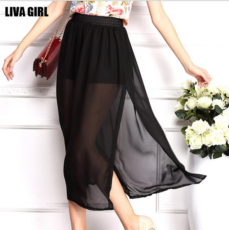 Женская юбка LIVA GIRL slit skirt 11 saias longas femininas 1306 slit skirt drawstring slit knit skirt