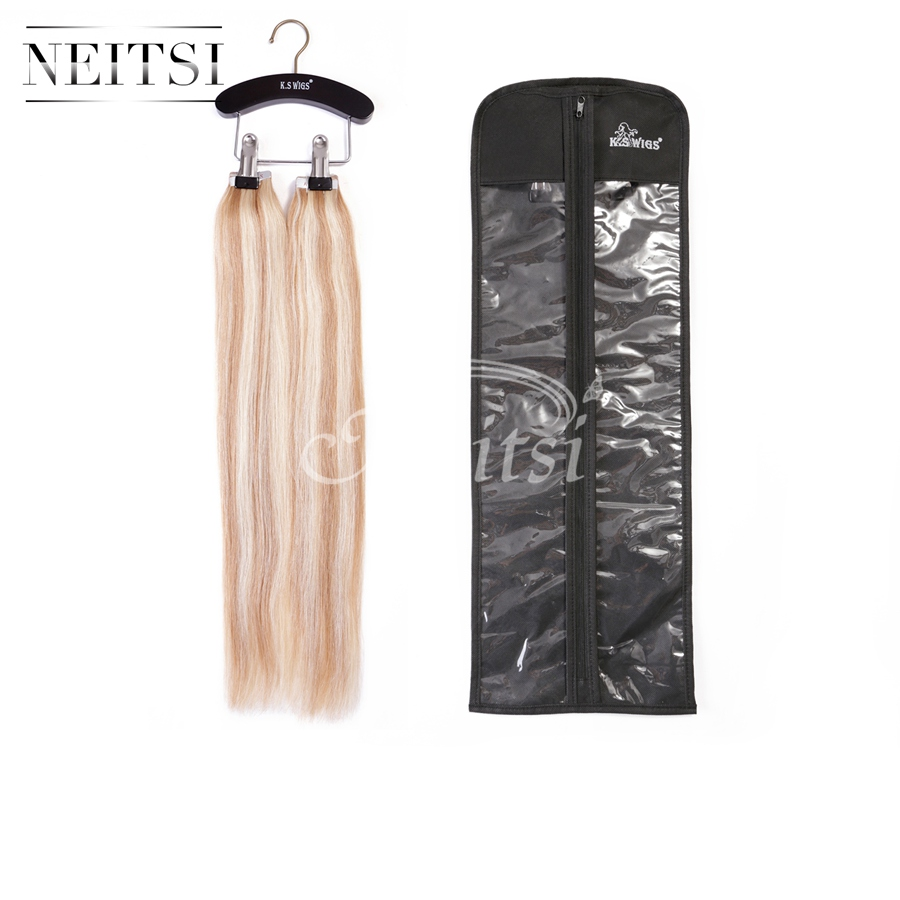 Neitsi Wooden Hair Extensions Storage Carrier - Suit Case Bag plus Hanger for Virgin Hair & Clip in Hair Extensions(China (Mainland))
