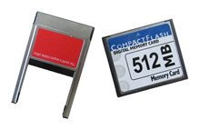 CompactFlash Card 512MB cf + PCMCIA adapter for CNC industrial machine