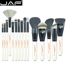 JAF Brand 15 PCS Makeup Brush Set Professional Make Up Beauty Blush Foundation Contour Powder Cosmetics Brush Makeup J1501M-W(China (Mainland))