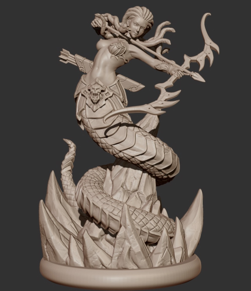 Grey Resin Soldier Model Medusa 65MM Miniatures(free shipping)<br><br>Aliexpress