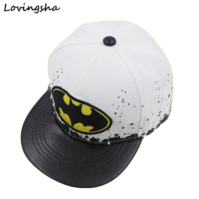 Мода Мальчик Бейсболки Для 3-8 Лет Дети Бэтмен Дизайн Snapback Шапки Высокого Качества ...