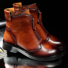 wholesale brown leather ankle boots