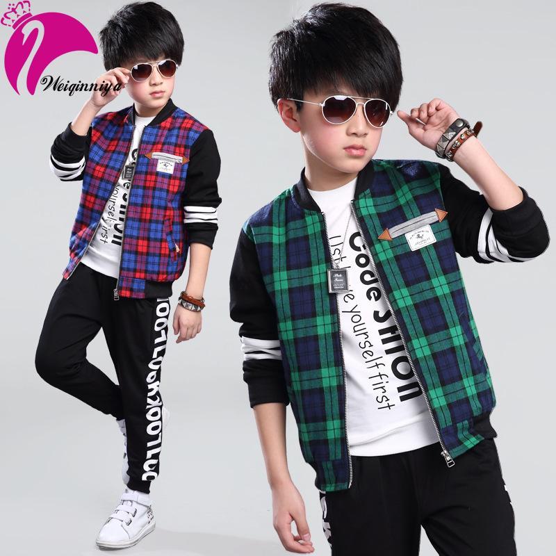 2016 New Boy Jacket Coat British style Plaid Cool Outerwear Big-Kids Boys Clothes Wholesales Coat Infantis<br><br>Aliexpress
