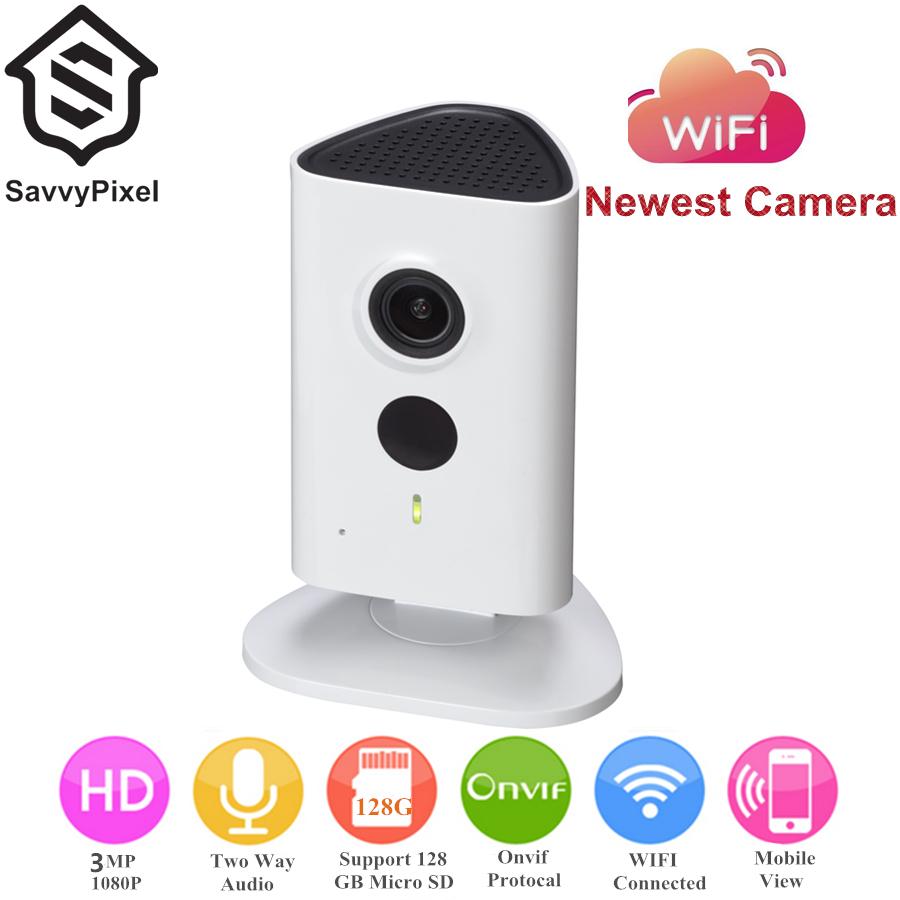 English Version 3 Megapixel WIFI Camera Indoor IP Camera 1080P 10m IR Distance Security Camera Built-in Mic Speaker Support(China (Mainland))