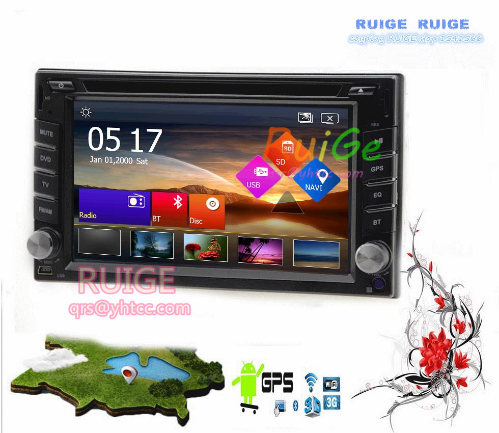 """6.2"""" Android 4.2 Universal In-Dash GPS Car DVD Player+Wireless Camera+2 din Car Stereo Radio Head Unit PC TV Ipod USB/SD BT RDS()"""
