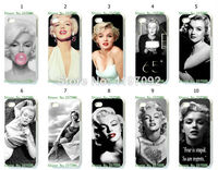 2014 HOT new design 1pcs/lot wholesale sexy girl  Marilyn Monroe hard white case cover for iphone5 5s + free shipping