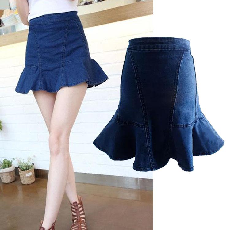 summer new vintage fashion denim skirt beautiful