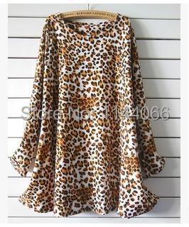 product Plus Size Women Casual Dresses 2015 New Autumn Winter Cashmere Vintage Leopard Printed Dress Fashion Clothing Vestido Informal