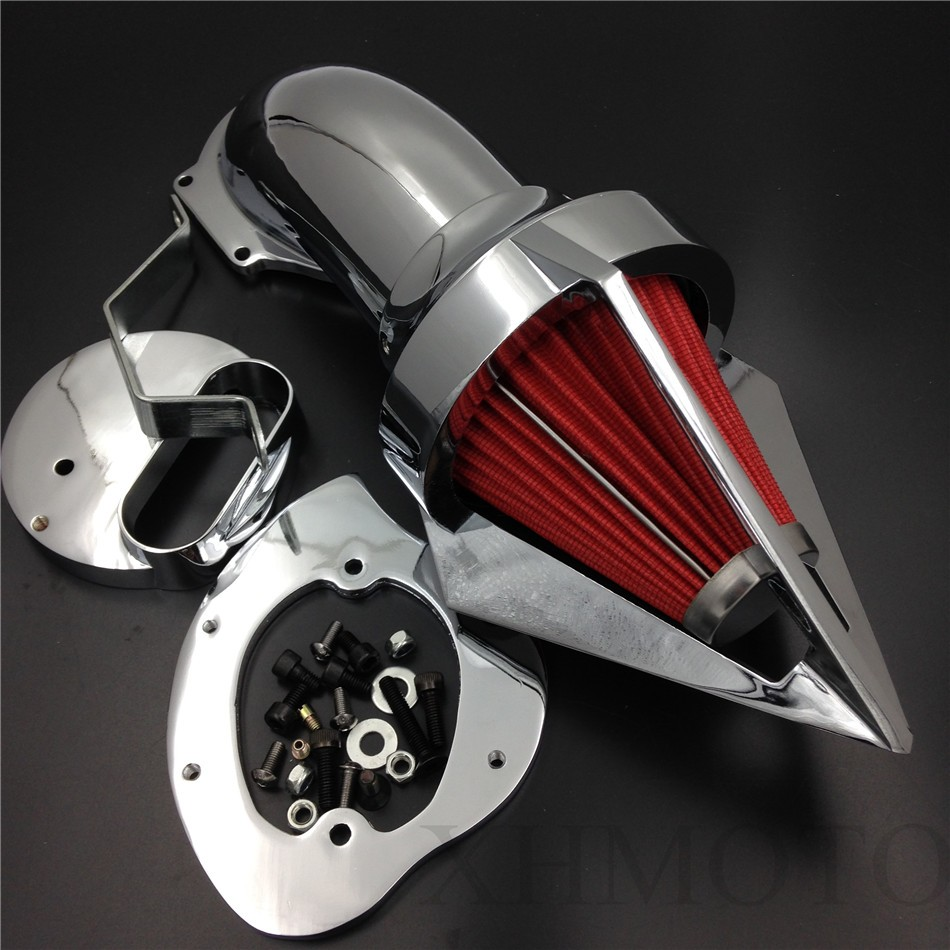 Aftermarket free shipping motorcycle parts Cone Spike Air Cleaner for Yamaha   V-Star 1100 Dragstar XVS1100 1999-2012 CHROME