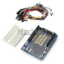 Buy Prototype Shield ProtoShield Arduino+Mini Breadboard+65pcs Jumper Cable Wire for $4.74 in AliExpress store