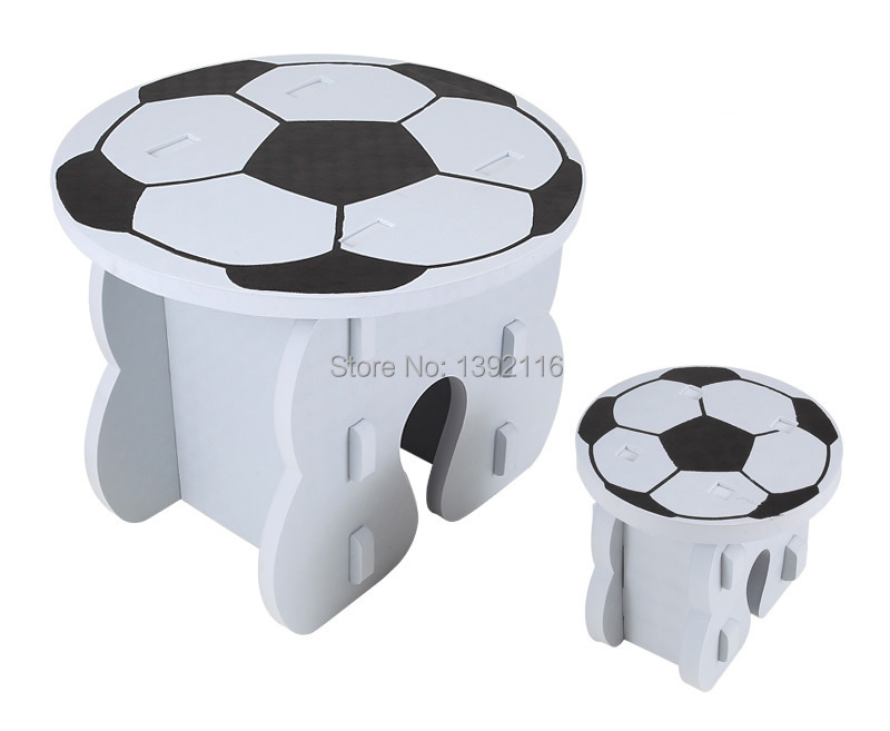 Child foam Football small tables and chairs eva patchwork tables and chairs baby toy tabourers classic(China (Mainland))