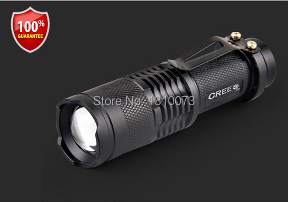 Professional Cree Led flashlight 350 Lumens High Power AA/14500 Torch Zoomable mini light lamp 3-mode tactical lanterna 90% 0FF(China (Mainland))