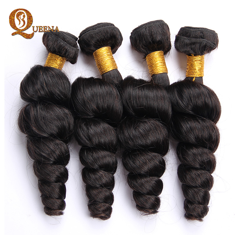 Queena Hair Product Peruvian Loose Wave Virgin Hair 2pcs Natural Wave Halo Hair Extensions Bele virgin hair Peruvian Loose Wave<br><br>Aliexpress