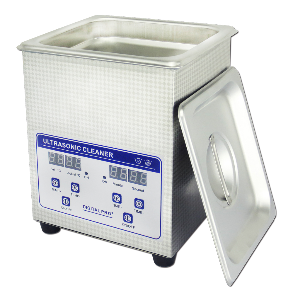 Digital injector nozzles ultrasonic cleaner 2L JP-010S with heater CE RoHS available(China (Mainland))