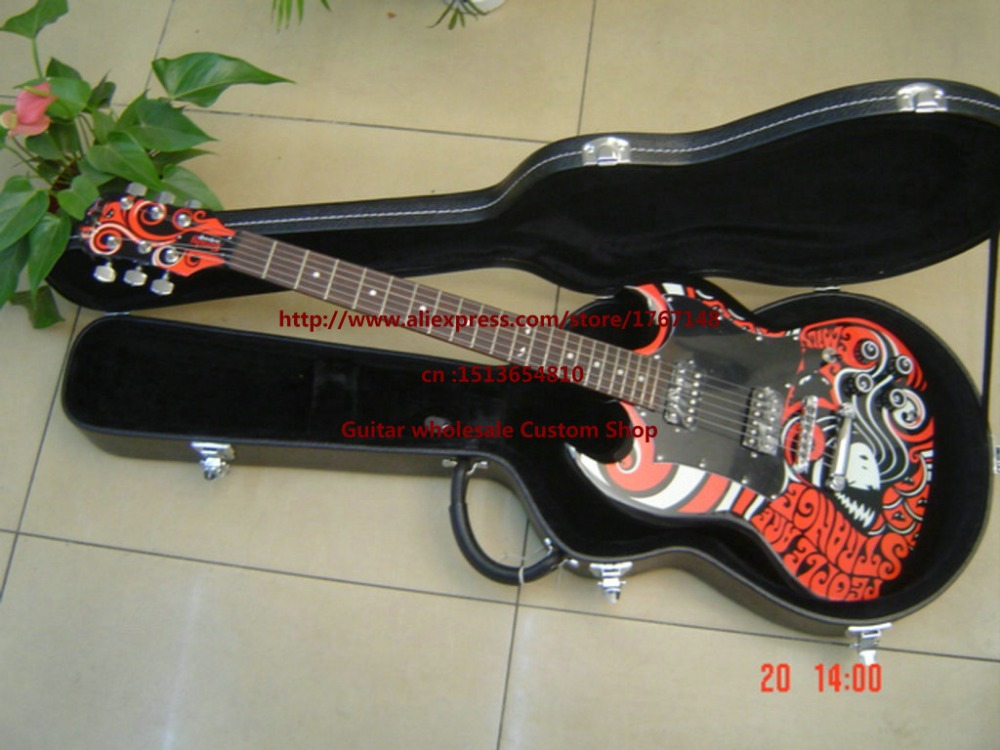 New!!! Top quality Epiphon Electric Guitar with case EPI factory produced Free Shipping(China (Mainland))