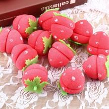 12pcs Rollers Curlers Strawberry Balls Hair Care Soft Sponge Lovely DIY Tool (China (Mainland))