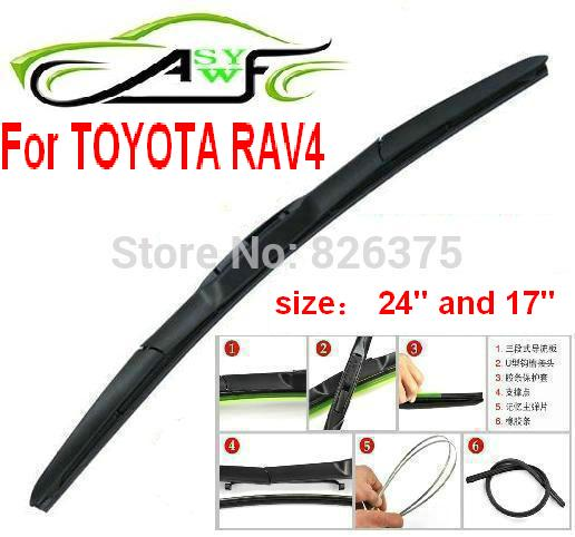 free shipping car windshield wiper blade for toyota rav4. Black Bedroom Furniture Sets. Home Design Ideas