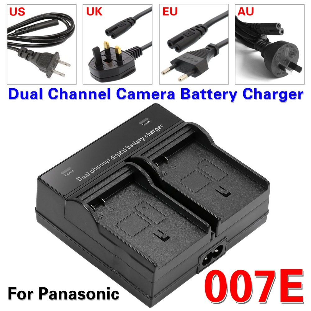 Dual Channel Camera Battery Charger For Panasonic L1 TZ1 3 2 4 11 007E S007 BCD10 Camera battery charger(China (Mainland))