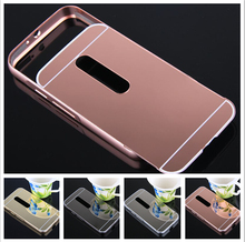Fashion Luxury Rose Gold Mirror Phone Cases Moto G3 MOTO G2 G4 moto x2 Alumimum Metal Frame shell Back Cover - Wynn yi's store