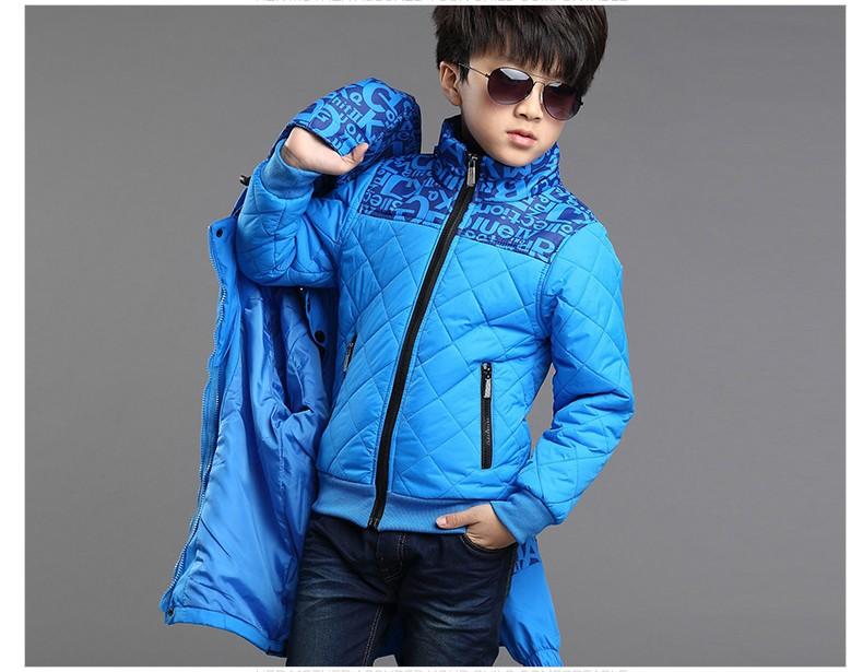 Скидки на Дети мальчики зимняя одежда 2 шт. водонепроницаемый ветрозащитный капюшоном верхняя одежда куртка + хлопок-проложенный теплое пальто мальчиков зимние виды спорта куртка