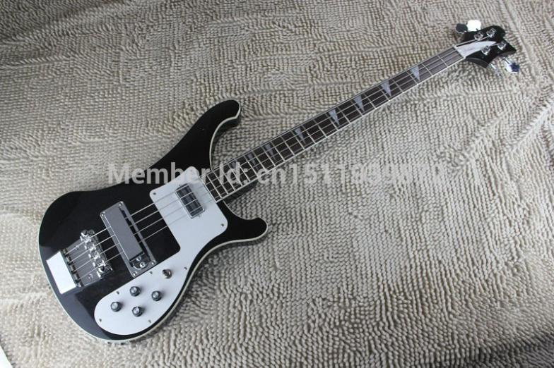 Free shipping 2015 New Arrival Chinese guitar factory RICK 4003 Classic Electric Bass Jetglo top quality cheap price(China (Mainland))
