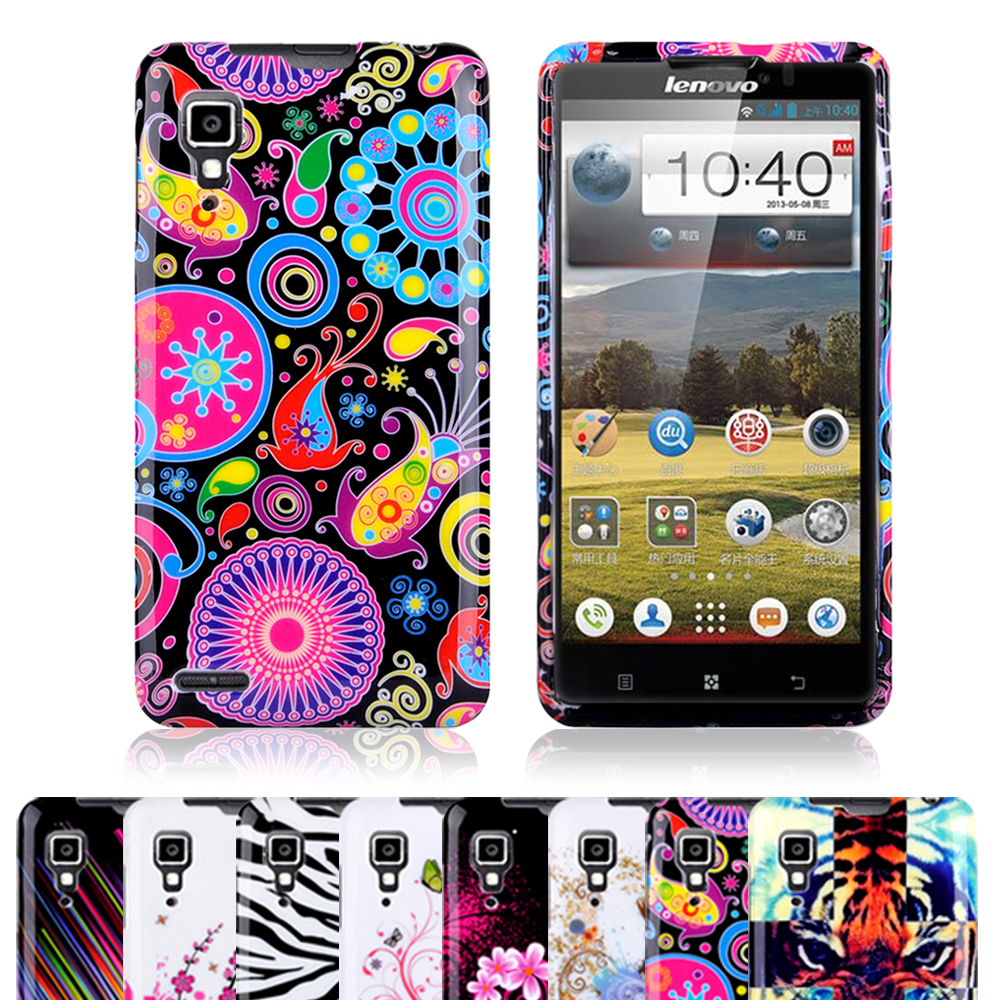 ! Fashionable Design Printing Soft Butterfly Flower Cell Phones Case Cover Skin Lenovo P780 - jemeiy second store