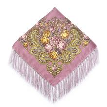 2016 New Fashion Women Square Winter Wrap Scarf Luxury Brand Lady Tassel Bandana Shawl Floral Designer Poncho Hot Sale Headband(China (Mainland))