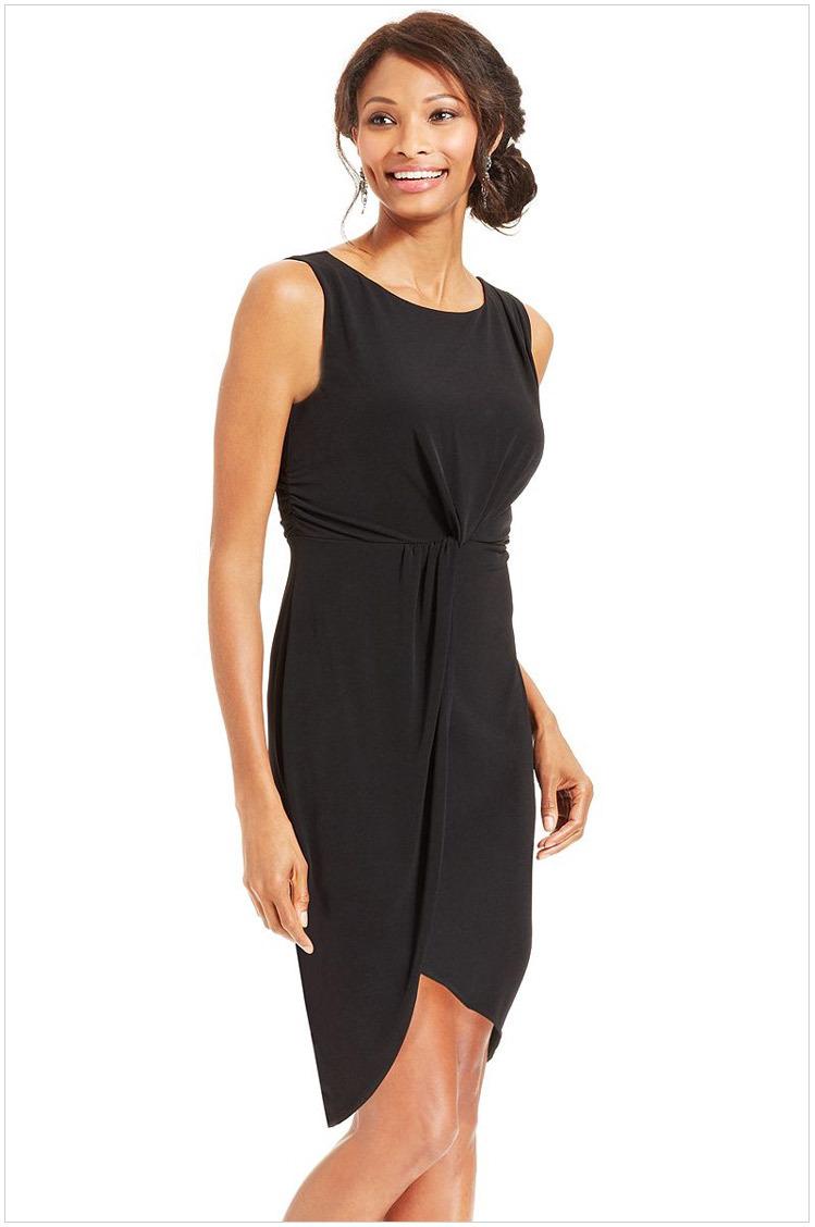 Pencil dress winter 2014 elegent women office dress knee length black