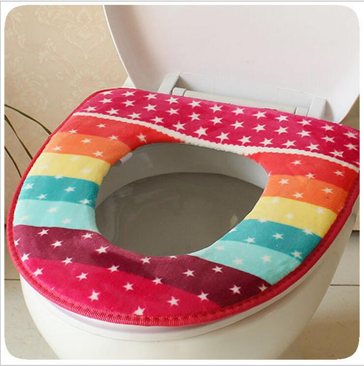 Winter Toilet Seat Warmer Coral fleece Thicken Carpet Toilet Seat Cover Soft Comfortable Baby Potty Seat Overcoat Toilet Case(China (Mainland))