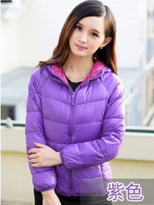 Free shipping ! Woman winter warm new fashion Slim thin section deals Hooded zipper jacket coat collar solid , (122) S-3XL(China (Mainland))