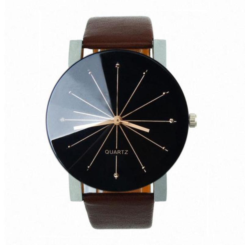 Splendid Watches Men Luxury Top Brand Quartz Dial Clock Leather Round Casual Wrist watch Relogio masculino<br><br>Aliexpress