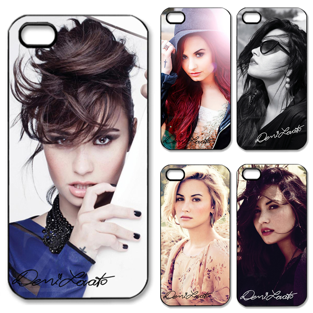 demi lovato signed popular star fashion original matte hard Case cover iphone 5 5s 2014 new RZ005 - Abs Phone Cases store