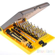 New 6089A 45 in 1 Precision Torx Screwdriver Cell Phone Repair Tool Set Tweezer Mobile Phone Tool Kit Wholesale