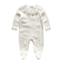 100% Cotton Brand Baby Lace White Rompers Newborn Bebes Clothing Overalls Romper Baby Jumpsuits(China (Mainland))