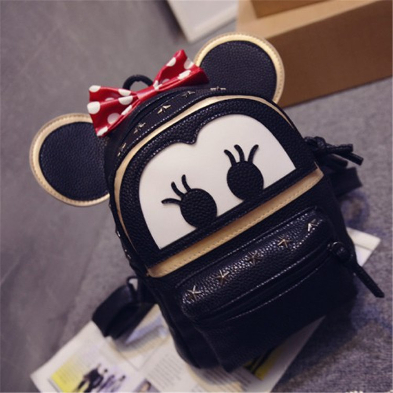 2016 New Children School Bags Cute Mickey Backpacks Baby Girl School Bag Lovely Cartoon School Backpack For Kindergarten Kids(China (Mainland))