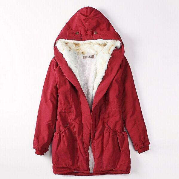 Скидки на 2016 новых осенью Толщиной Искусственного меха подкладка женские зимние плюшевые лайнер куртку ветровку и длинные участки Тонкий пальто хлопка плюс размер
