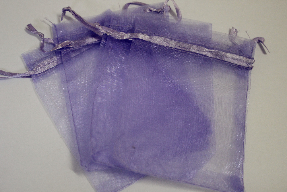 100pcs/lot lilac colour Organza Bags 7x9cm Wedding Favour Gift bag Jewellery pouches(China (Mainland))