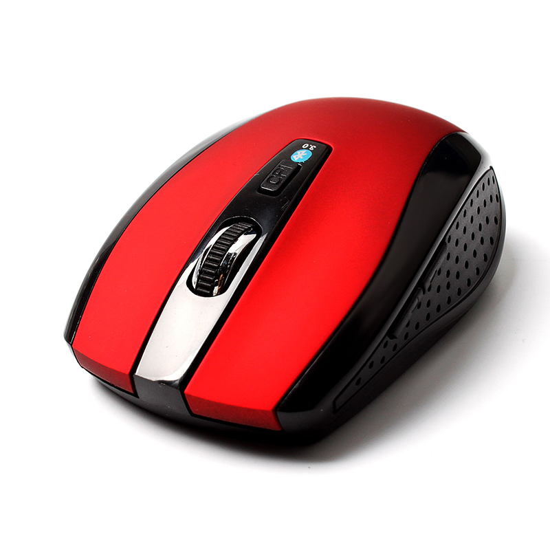 Hot Sale Gray Red Black Wireless Bluetooth Optical Mouse Mice for PC Android 3.1+ Tablet #75539(China (Mainland))